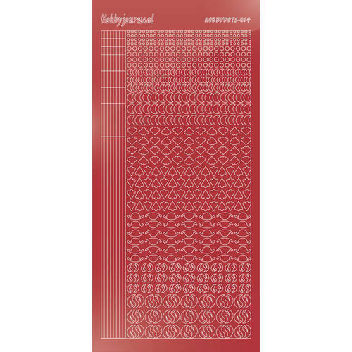 Hobbydots - Stickervel - Mirror Christmas Red - Serie 14 (stdm14H)