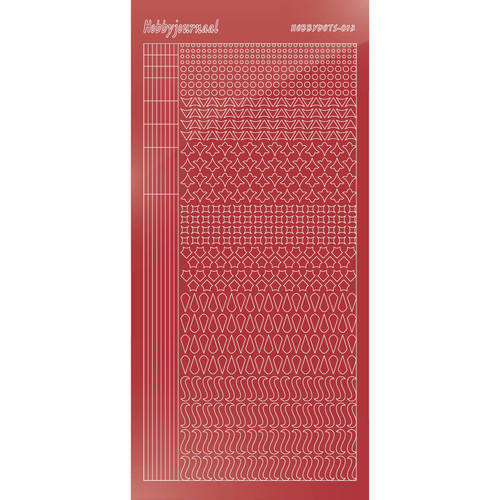Hobbydots - Stickervel - Mirror Christmas Red - Serie 13 (stdm13H)