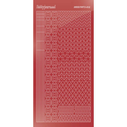 Hobbydots - Stickervel - Mirror Christmas Red - Serie 12 (stdm12H)