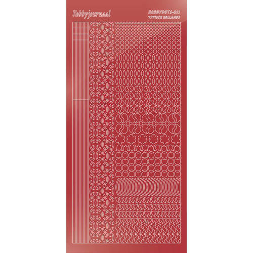 Hobbydots - Stickervel - Mirror Christmas Red - Serie 11 (stdm11H)