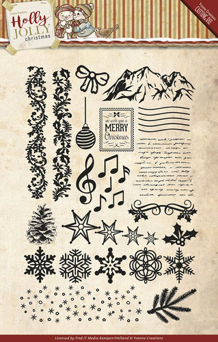 Clearstamp - Yvonne Creations - Holly Jolly - YCCS10025