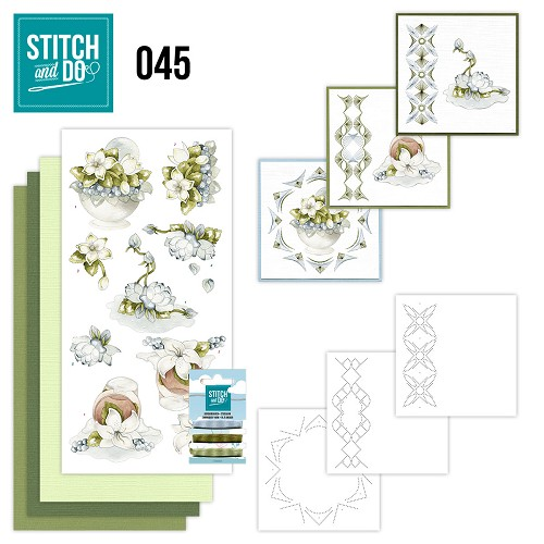 Stitch and Do 45 - Winterflowers - Precious Marieke - STDO045