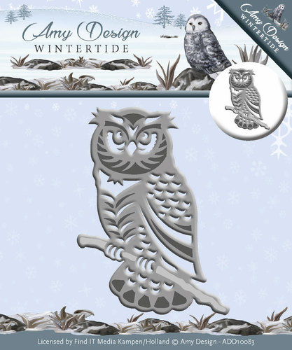 Die - Amy Design - Wintertide - Owl / Uil - ADD10083