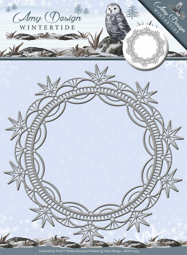 Die - Amy Design - Wintertide - Ice Crystal Frame - ADD10079