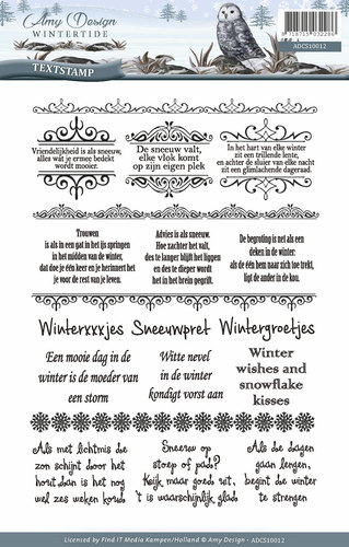 Clearstamp - Amy Design - Wintertide - Tekst - ADCS10012
