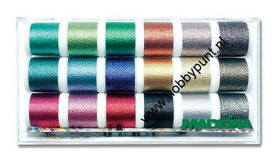 Madeira Metallic 40 Assortiment - Sparkling Box 18 klosjes - 200 meter - 8020