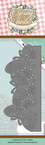 Die - Yvonne Creations - Spring-tastic - Butterfly Border - YCD10085