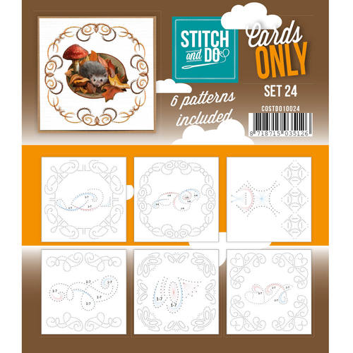 Stitch & Do - Cards only - Set 24 - Costdo10024