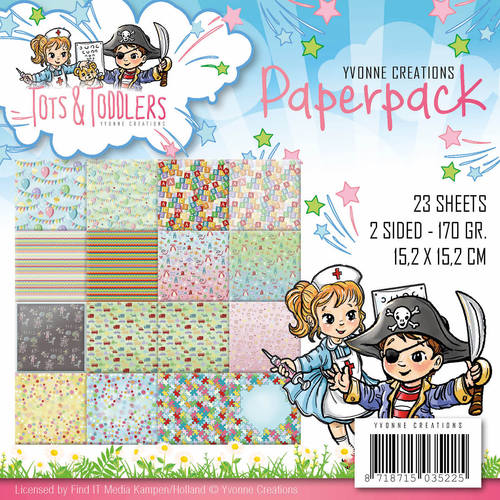 Paperpack - Yvonne Creations - Tots and Toddlers - YCPP10012