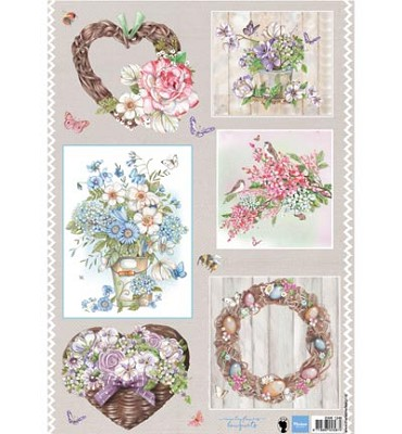 Knipvel - Marianne Design - Country Flowers 2 - EWK1248