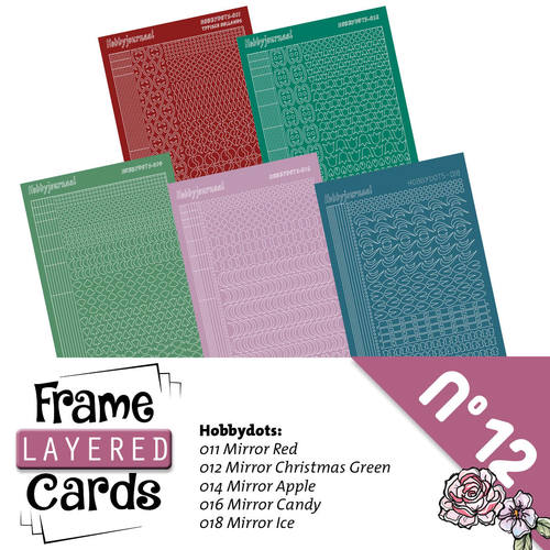 Stickerset Layered Frame Cards 12 - LCST012