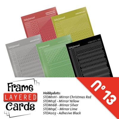 Stickerset Layered Frame Cards 13 - LCST013