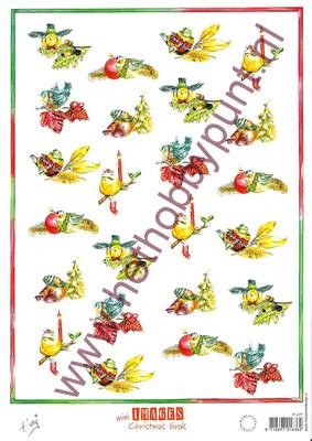 Knipvel - Tiny Harts - Mini Images Christmas Birds - IT477