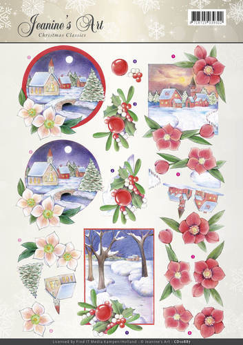 3D Knipvel - Jeanines Art - Christmas Classics - Christmas Landscapes - CD10887