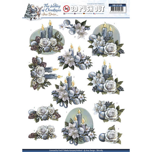 3D Pushout - Amy Design - The feeling of Christmas - Christmas candles - SB10189