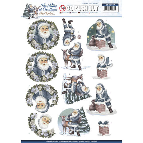 3D Pushout - Amy Design - The feeling of Christmas - Santa claus - SB10187