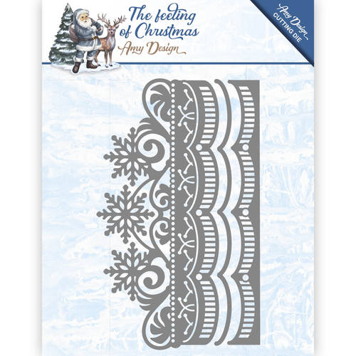 Die - Amy Design - The feeling of Christmas - Ice crystal border - ADD10111