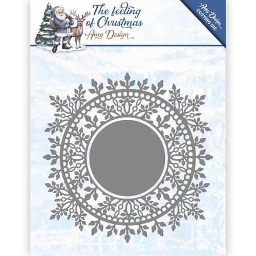 Die - Amy Design - The feeling of Christmas - Ice crystal circle - ADD10110