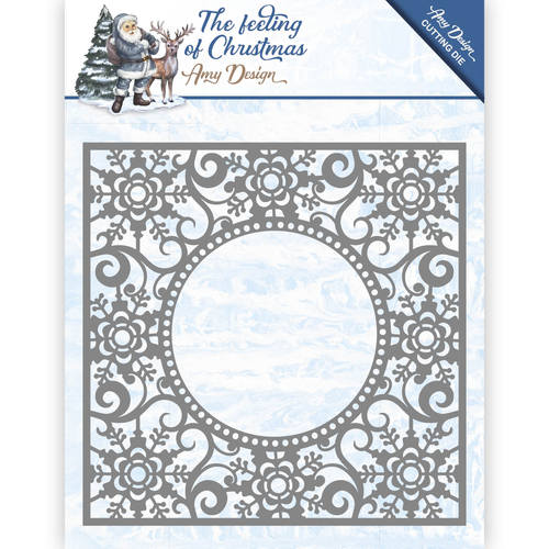Die - Amy Design - The Feeling of Christmas - Ice crystal frame - ADD10109