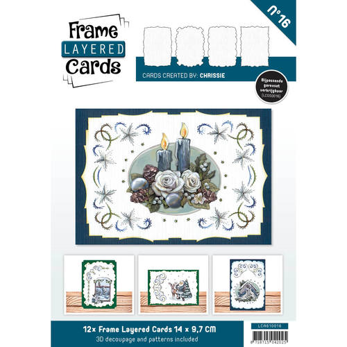 Layered Frame Cards nr 16 - A6 - Linnen Art - Wit - LCA610016