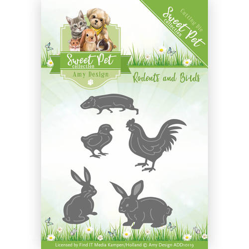 Die - Amy Design - Sweet Pet - Rodents and Birds - ADD10119
