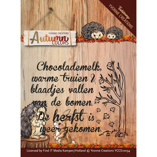 Clearstamp - Text stamp - Autumn Colors - YCCS10034