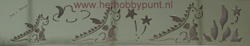 Embossing Sjabloon - Dieren - Draken - Hobby & Crafting Fun