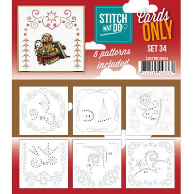 Stitch & Do - Cards only - Set 34 - Costdo10034