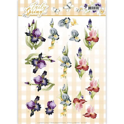 3D Knipvel - Precious Marieke - Early Spring - Early Irises - CD11024