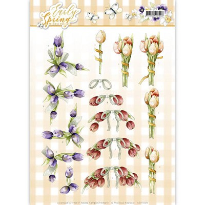 3D Knipvel - Precious Marieke - Early Spring - Early Tulips - CD11025