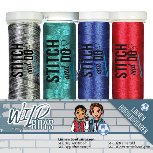 Stitch and Do Garenset - Yvonne Creations - Wild Boys - YCGS10004
