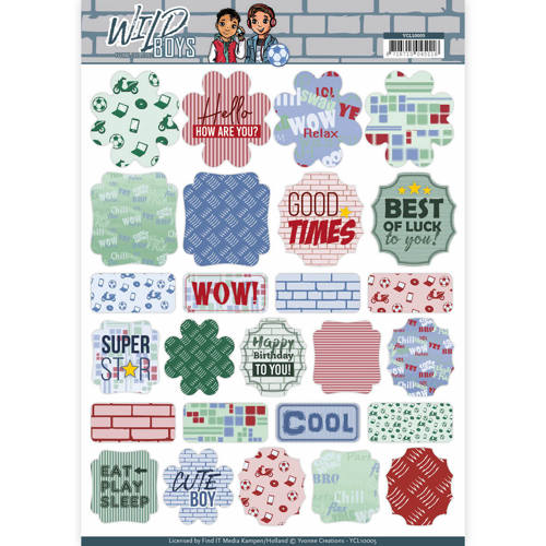 Push-Out Labels - Yvonne Creations - Wild Boys - YCL10005