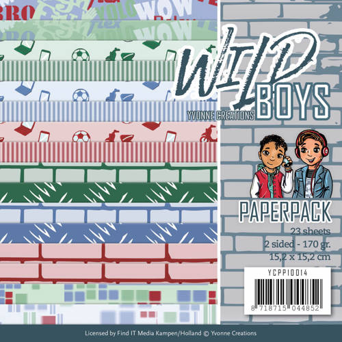 Paperpack - Yvonne Creations - Wild Boys - YCPP10014