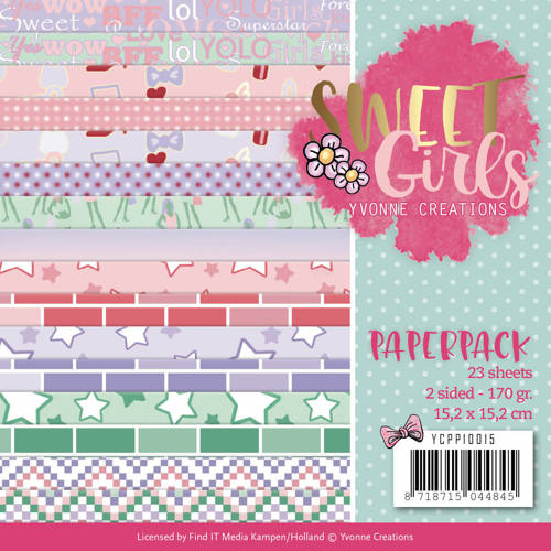 Paperpack - Yvonne Creations - Sweet Girls - YCPP10015