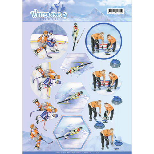 3D Knipvel - Jeanine`s Art - Wintersports - Ice Hockey - CD11029