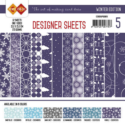Card Deco - Designer Sheets - Winter Edition Paars - CDDSPS005