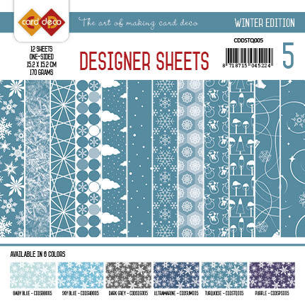 Card Deco - Designer Sheets - Winter Edition Turquoise - CDDSTQ005