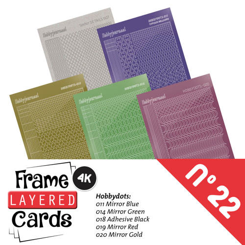 Stickerset Layered Frame Cards 22- LCST022