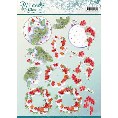 3D Knipvel - Jeanines Art - Winter Classics - Winterberries - CD10970