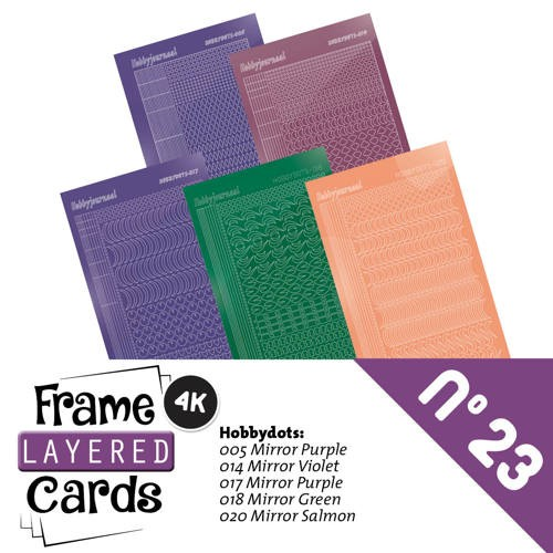 Frame Layered Cards 23 - Stickerset - LCST023