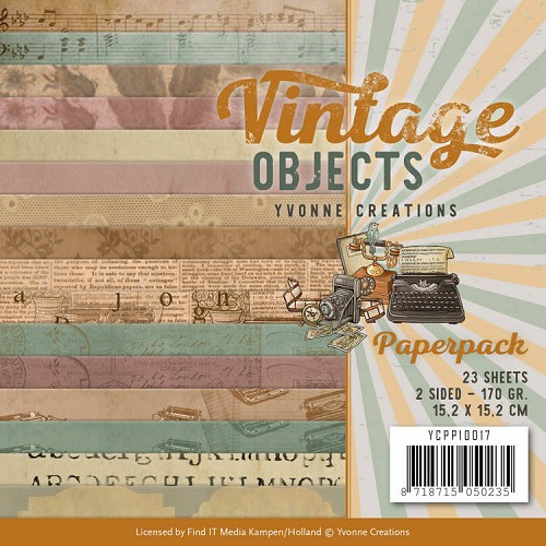 Paperpack - Yvonne Creations - Vintage Objects -YCPP10017