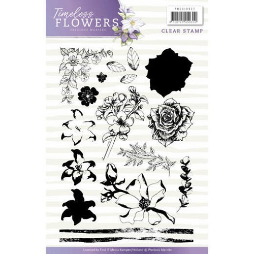 Clearstamp - Precious Marieke - Timeless Flowers - PMCS10027