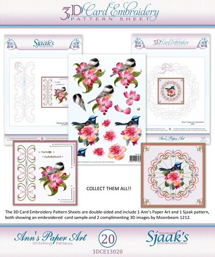 3D knipvel - Ann`s Paperart - 3D Card Embroidery Pattern Sheet #20 with Ann & Sjaak