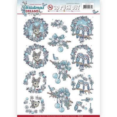 3D Pushout - Yvonne Creations - Christmas Dreams - Christmas Animals - SB10276