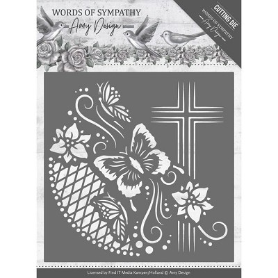 Dies - Amy Design - Words of Sympathy - Sympathy Cross Frame - ADD10155