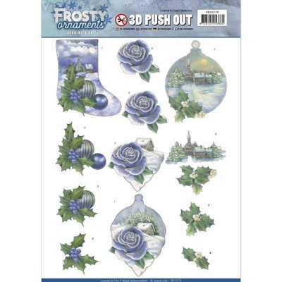 3D Push Out - Jeanine`s Art - Frosty Ornaments - Snowy Landscapes - SB10278