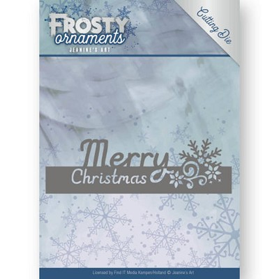 Dies - Jeanine`s Art - Frosty Ornaments - Text - Merry Christmas - JAD10045ɨ