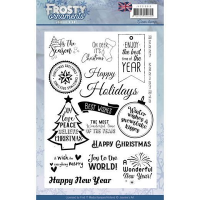 Textstamp - Jeanine`s Art - Frosty Ornaments - ENG - JACS10019