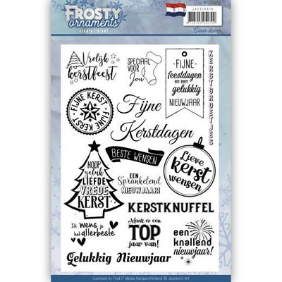 Textstamp - Jeanine`s Art - Frosty Ornaments - NL - JACS10018