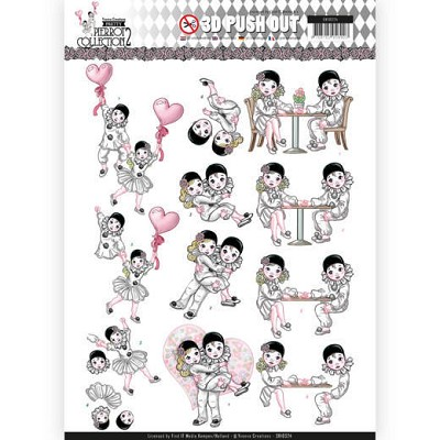 3D Pushout - Yvonne Creations- Pretty Pierrot 2 - Love is in the Air - SB10324&#6158
